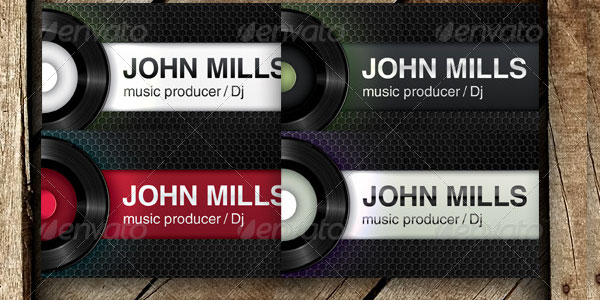 music producer dj 50+ Dj Music Business Cards & Designs