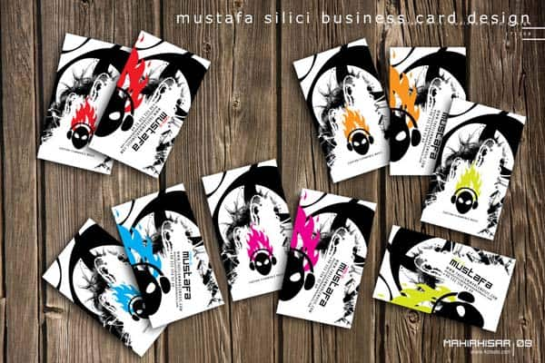 mustafa silici business card by mahirhisar 50+ Dj Music Business Cards & Designs