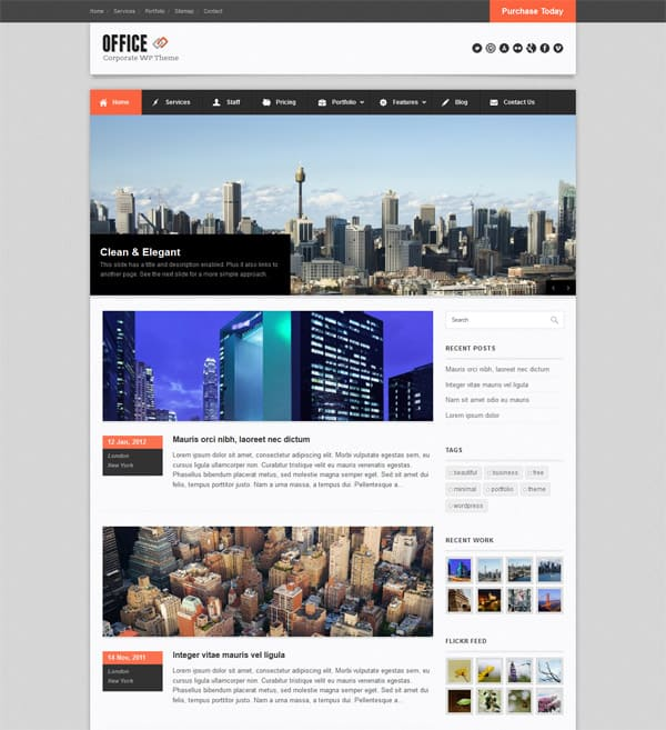office 50 Free and Premium Responsive WordPress Themes
