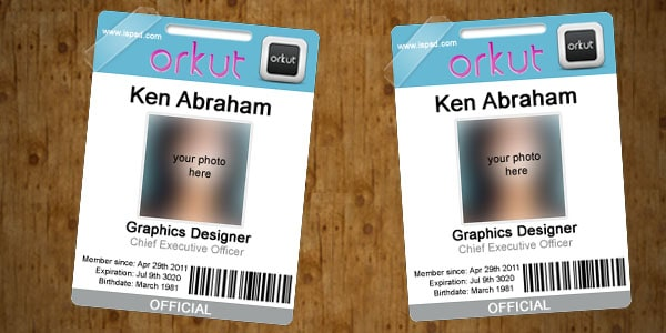 orkut 10+ Social Media Business Cards