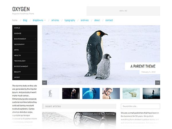 oxygen magazine 50 Free and Premium Responsive WordPress Themes