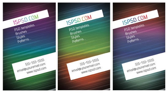 page33 15+ Business Card Templates with Multi Color Background