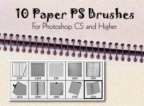 paper photoshop brushes 20 Old and Free Paper Brushes
