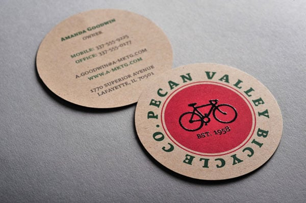 pecan valley 1 30+ Creative Round Business Cards