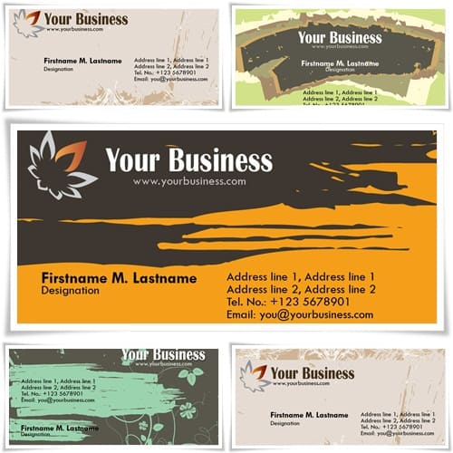 personal card 15+ Business Card Templates with Multi Color Background