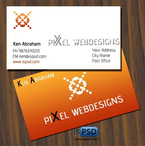 pixel PSD Freebies : A collection of 40+ White Colored Business Cards