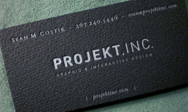 projekt ink business card 60+ Embossed Business Cards for Inspiration