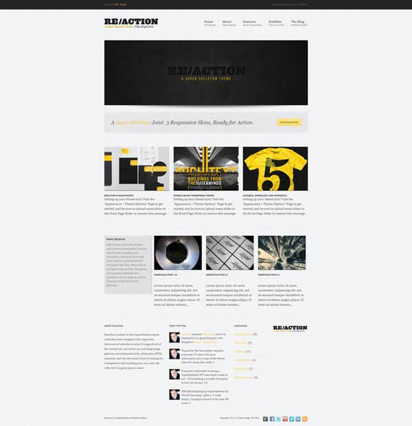 reaction wp 50 Free and Premium Responsive WordPress Themes