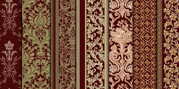 red damask 20 Cool Damask Textures and Patterns Collections
