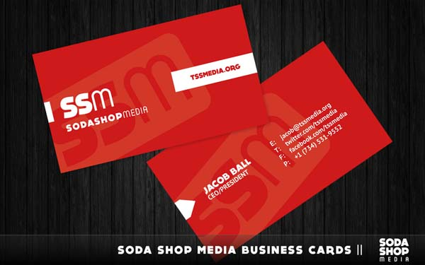 red simple card 25 Impressive and Simple Business Card Designs