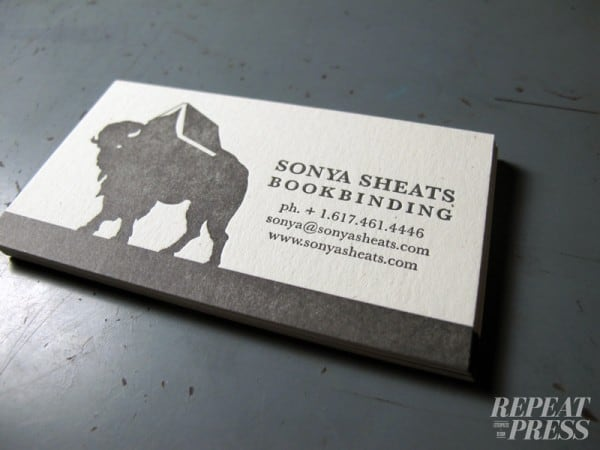 repeat press 600x450 60+ Embossed Business Cards for Inspiration