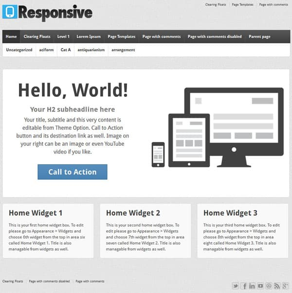 responsive 50 Free and Premium Responsive WordPress Themes