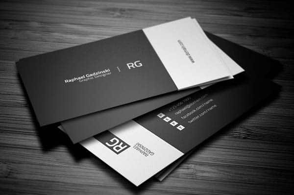 rg 25 Impressive and Simple Business Card Designs