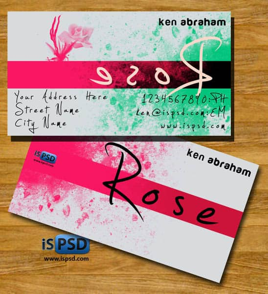rose cards PSD Freebies : A collection of 40+ White Colored Business Cards