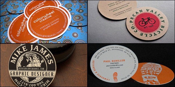 30 creative round business cards accmission Gallery