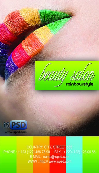 saloon 15+ Business Card Templates with Multi Color Background