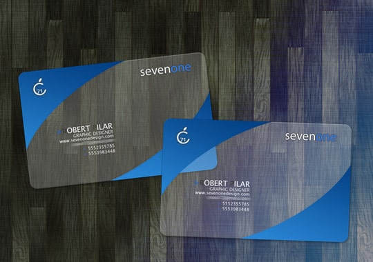 sevenone business cards 2 101569990 60+ Cool Transparent Business Card Designs