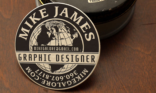 shoe polish business card 30+ Creative Round Business Cards