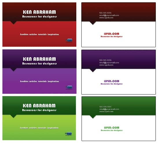 simple multi 15+ Business Card Templates with Multi Color Background