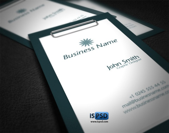 slate PSD Freebies : A collection of 40+ White Colored Business Cards