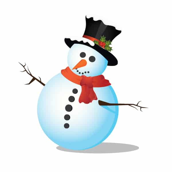 snow man 40 Simple Adobe Illustrator Tutorials