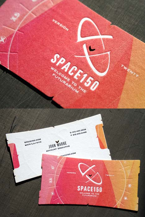 space150 v20 business card 60+ Embossed Business Cards for Inspiration
