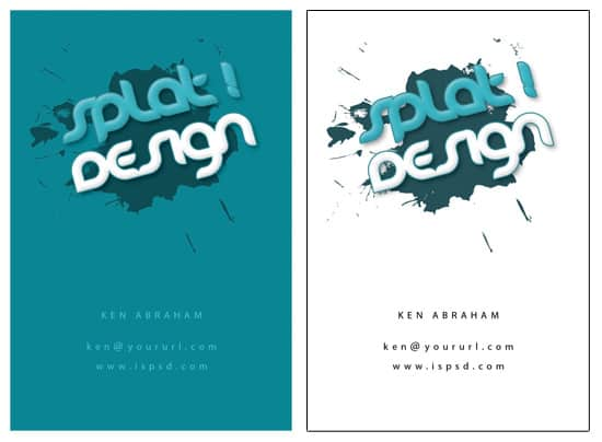 splat PSD Freebies : A collection of 40+ White Colored Business Cards