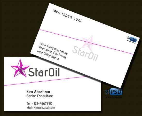 star oil PSD Freebies : A collection of 40+ White Colored Business Cards
