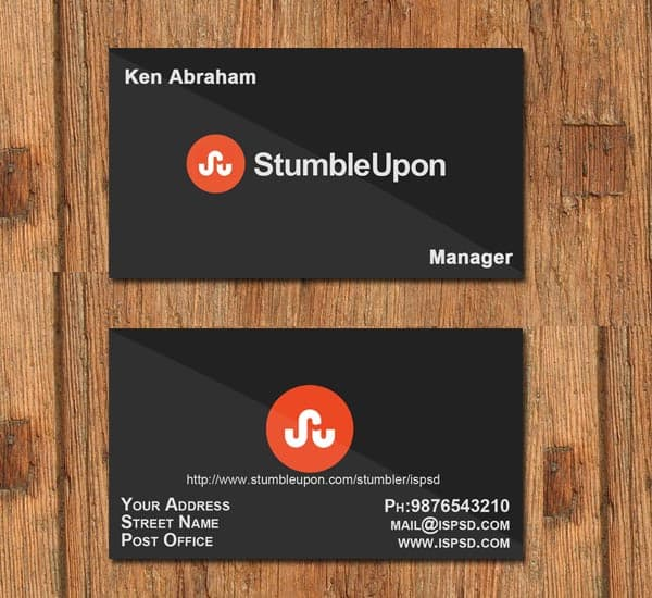 stumbleupon card 10+ Social Media Business Cards