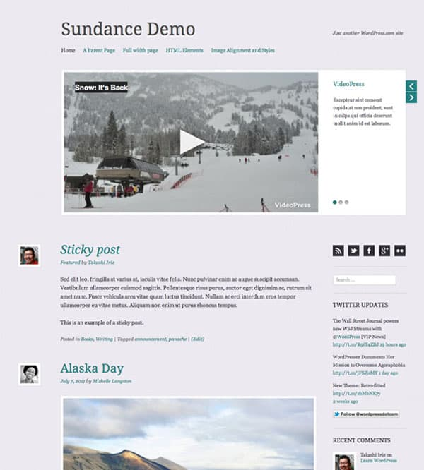 sundance 50 Free and Premium Responsive WordPress Themes
