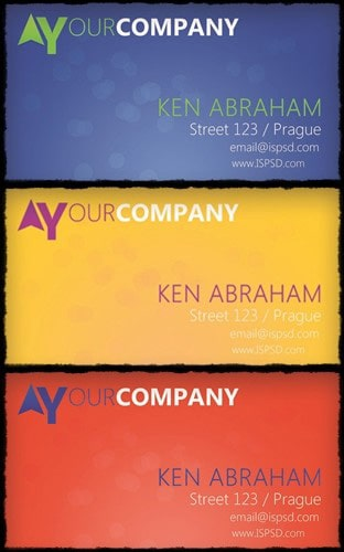 three color 15+ Business Card Templates with Multi Color Background