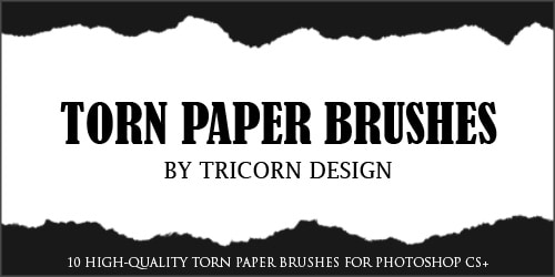 torn paper brushes by tricorndesign 20 Old and Free Paper Brushes