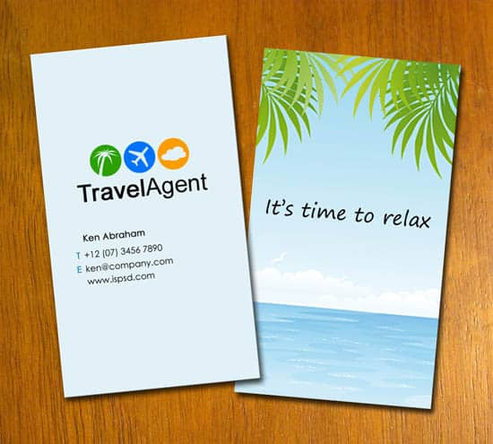 travel agency PSD Freebies : A collection of 40+ White Colored Business Cards