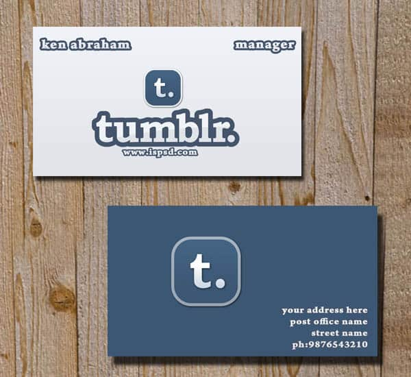 tumblr card 10+ Social Media Business Cards