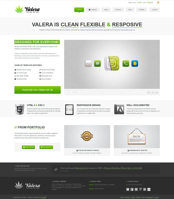 valera wp 50 Free and Premium Responsive WordPress Themes
