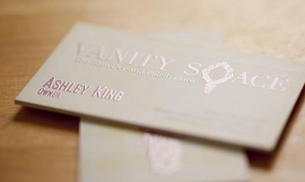 vanity space business card 20+ Impressive High quality Business cards
