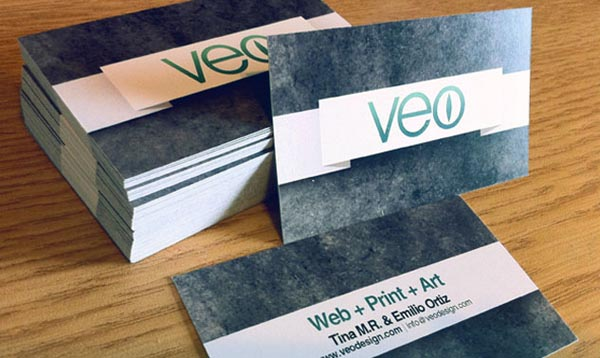 veo business card 20+ Impressive High quality Business cards