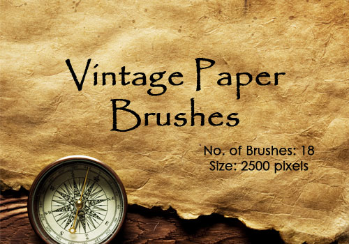 vintage paper brush 1 20 Old and Free Paper Brushes