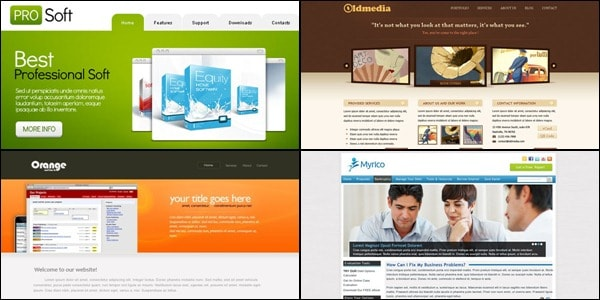 web psd templates