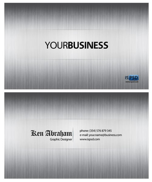 white steel PSD Freebies : A collection of 40+ White Colored Business Cards
