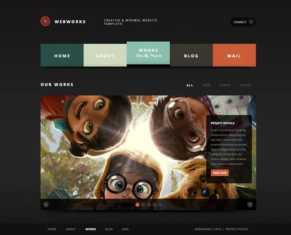 works 1 50 Free and Premium Responsive WordPress Themes