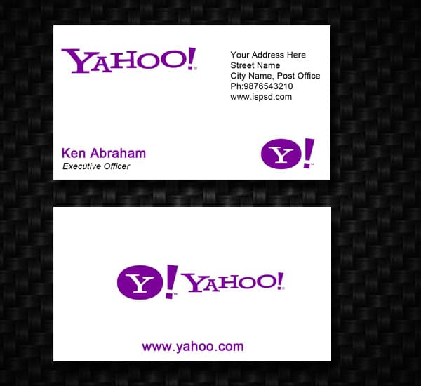yahoo 10+ Social Media Business Cards