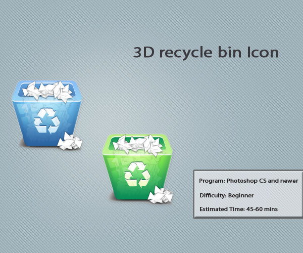 3d recycle bin icon 10 Amazing 3d Icon Tutorials