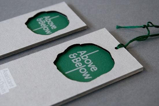 Above Below 20+ Fresh Business Cards Designs