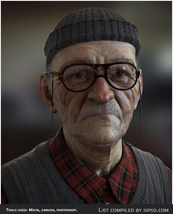 Balkan Retiree Breathtaking and Amazing 3D Portraits