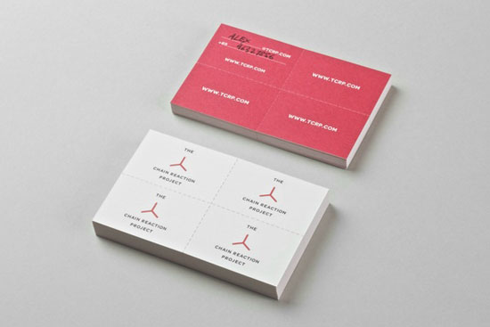 Chain Reaction Project 20+ Fresh Business Cards Designs