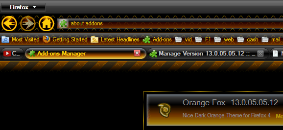 Dark Orange Fox 20 Top Firefox Skins for new browser
