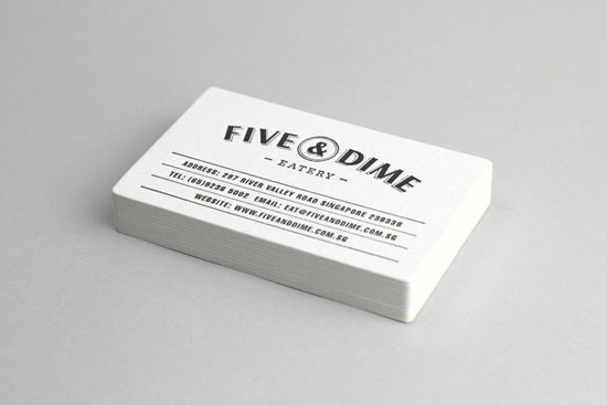 Five Dime 20+ Fresh Business Cards Designs