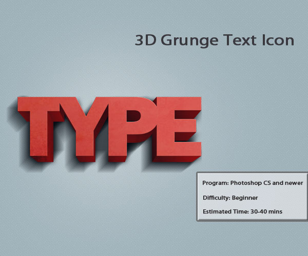 Grunge 3D Text 10 Amazing 3d Icon Tutorials