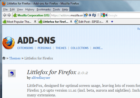Littlefox 20 Top Firefox Skins for new browser